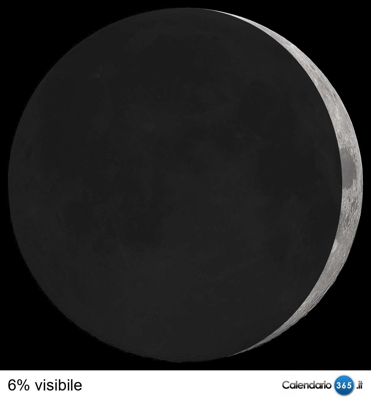 Il cielo del mese  Luna_-0_06