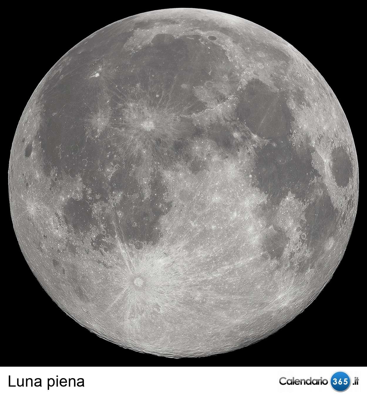 Calendario Luna Piena.Fasi Della Luna 2019 2020