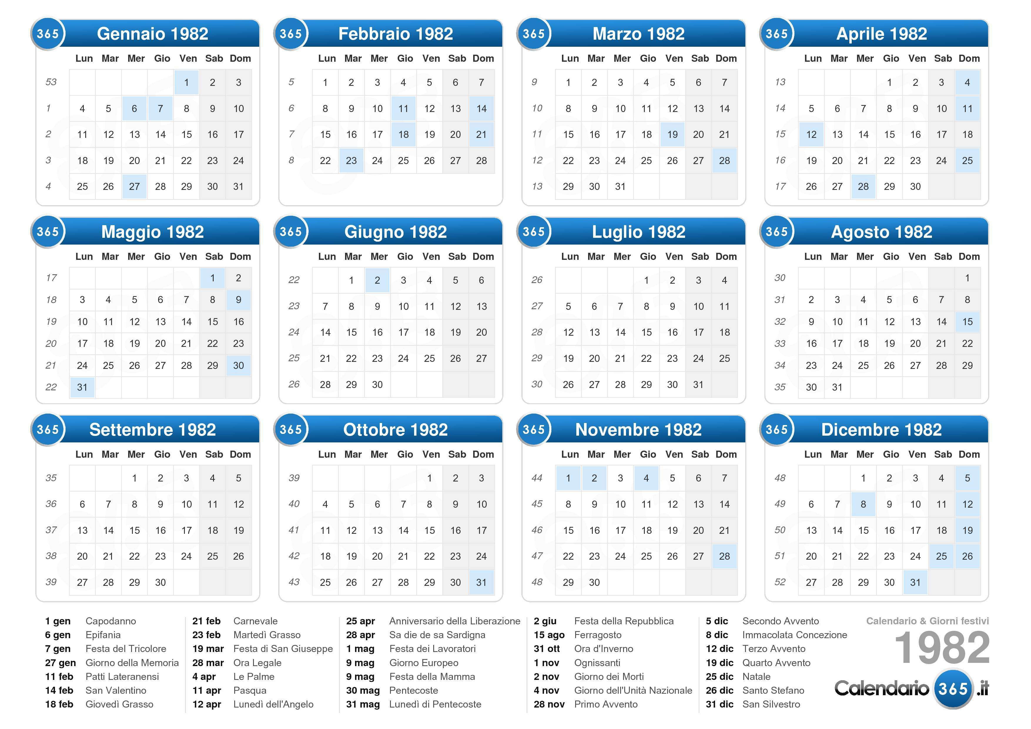 Calendario Lunare Maggio.Calendario Maggio 1982 Ikbenalles
