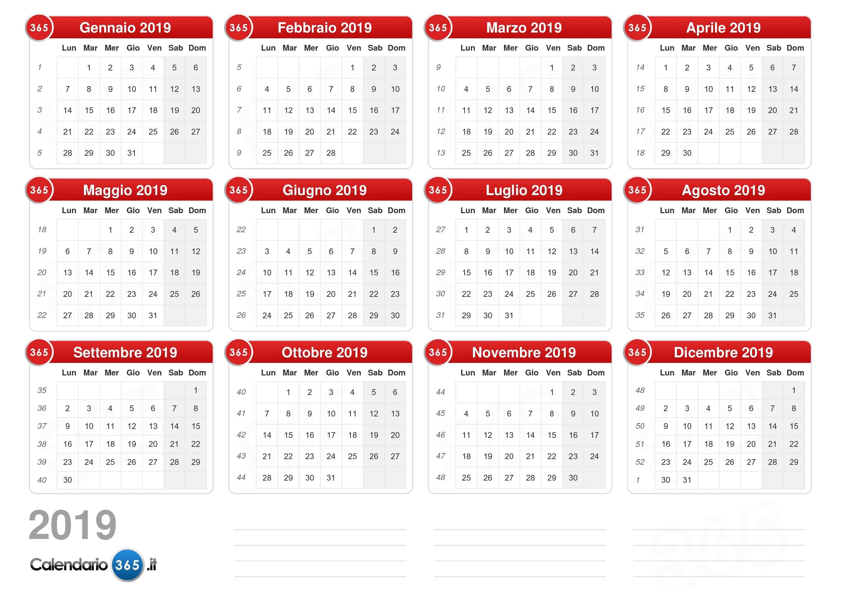calendario delle lune