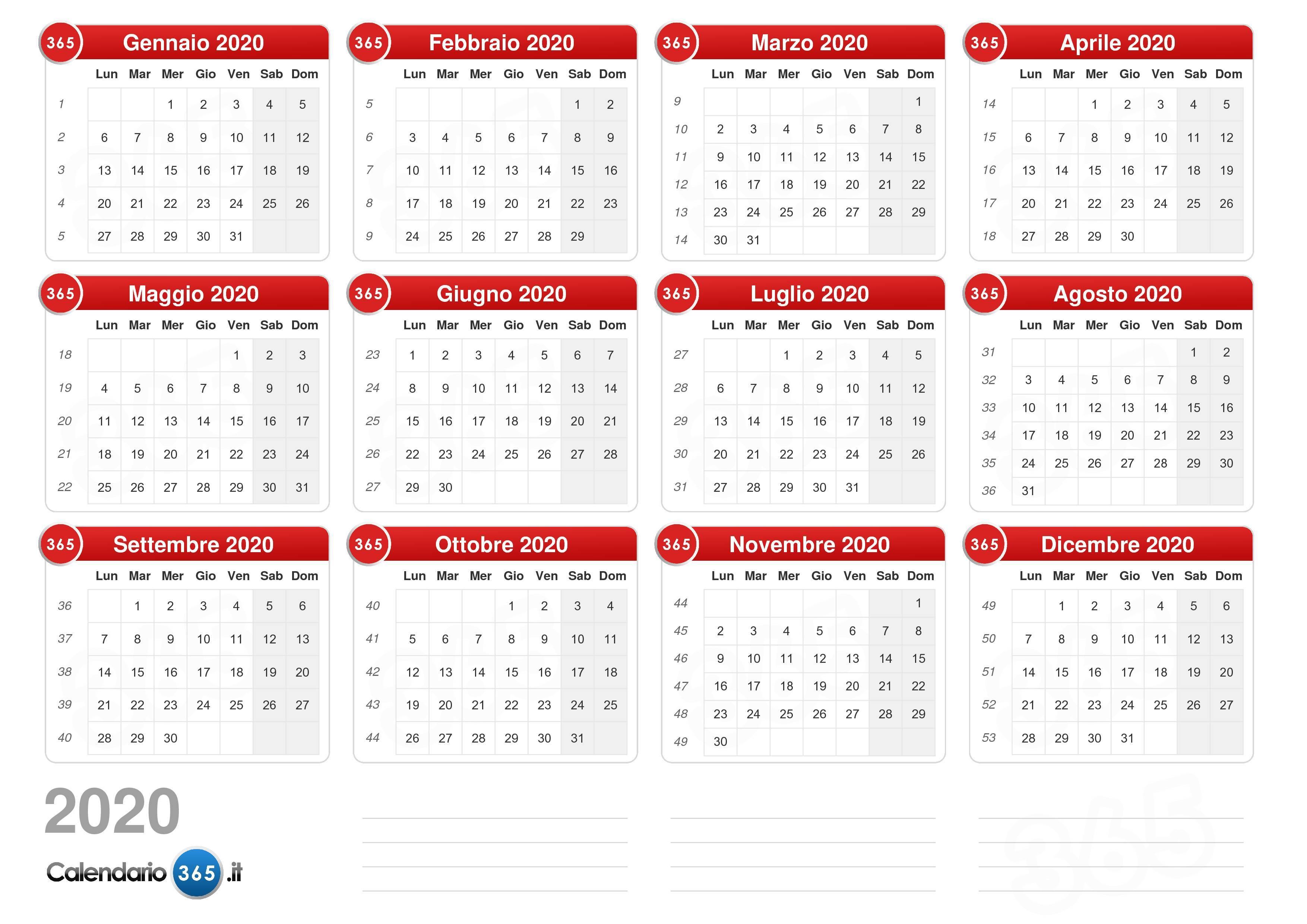 Calendario Fotografico 2020.Foto Calendario 2020 Calendario 2020