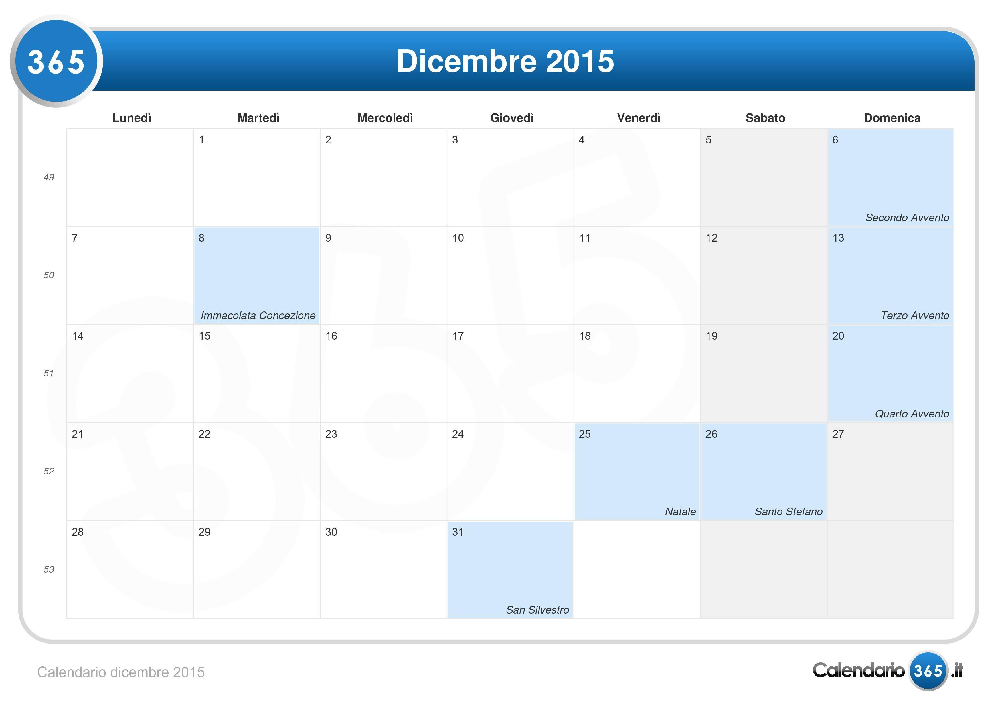 Calendario 2016 Doc